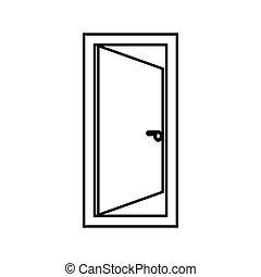 色, ドア, 黒, アイコン