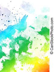 色, バックグラウンド。, 抽象的, 白, はねる