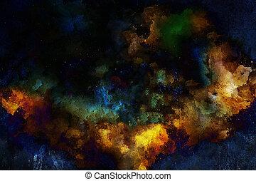 色, バックグラウンド。, 抽象的, 黒, はねる