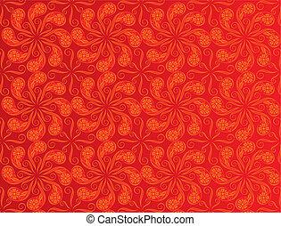 色, パターン, 赤