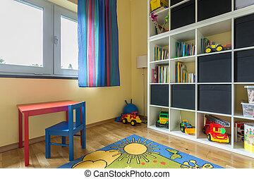 色, フルである, 部屋, 子供