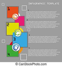 色, ベクトル, テンプレート, infographic