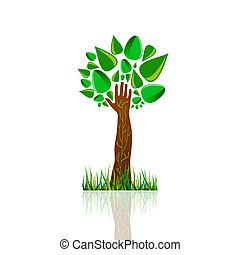 色, ベクトル, 木, イラスト, 自然