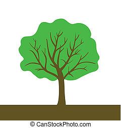 色, ベクトル, 木