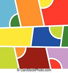 色, ベクトル, 背景, イラスト
