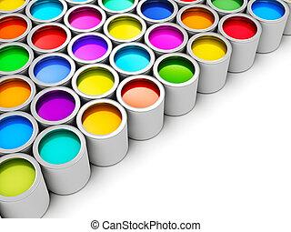色, ペンキの 缶