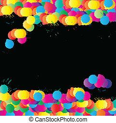 色, ペンキ, ベクトル, はねる, 背景