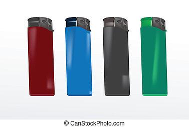 色, ライター, 別, プラスチック