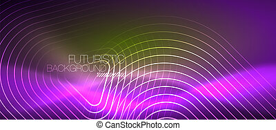 色, ライン, 抽象的, ネオンライト, 背景, 光沢がある