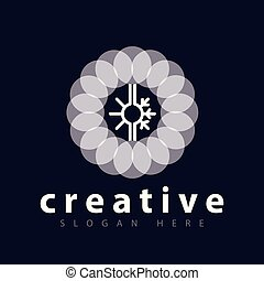 色, ロゴ, 暑い, 円, 涼しい