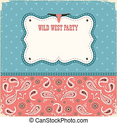 色, ワイルドカード, パーティー, 西, text., 背景, ベクトル