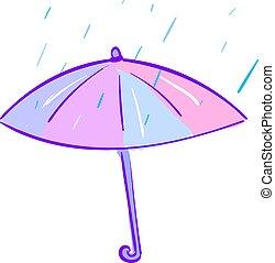 色, 傘, ベクトル, illustration., ∥あるいは∥