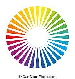色, 円, ラウンド, 色, ファン, デッキ