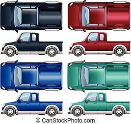 色, 別, の上, トラック, 一突き