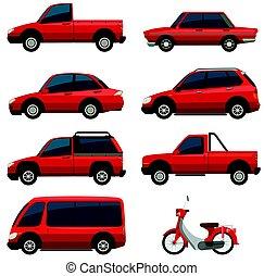 色, 別, 輸送, 赤, タイプ