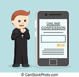 色, 司祭, confession, オンラインで