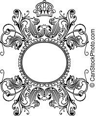 色, 国王の王冠, カーブ, 1(人・つ), 型, 旗