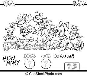 色, 多数, いかに, ゲーム, 本, ネコ, 犬