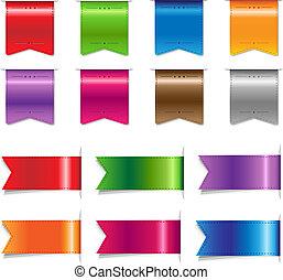 色, 大きい, セット, リボン, セール