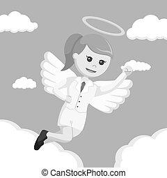 色, 女性実業家, 飛行, 天使