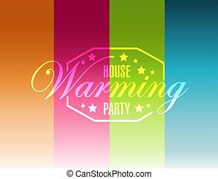 色, 家, ライン, 印, 背景, パーティー, 暖まること