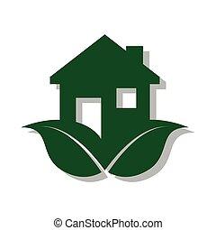 色, 家, 生態学的, pictogram