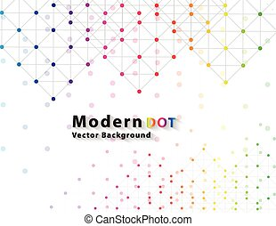 色, 技術, ネットワーク, 点