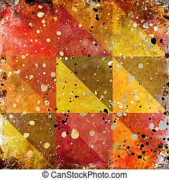 色, 抽象的, グランジ, 背景