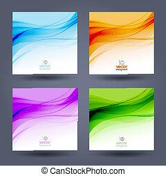 色, 抽象的, バックグラウンド。, デザイン, テンプレート, パンフレット