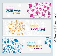色, 抽象的, ベクトル, ネットワーク, 接続