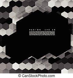 色, 抽象的, ベクトル, hexagonal., 3d