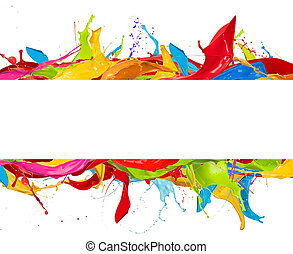 色, 抽象的, 白, はねる, 背景