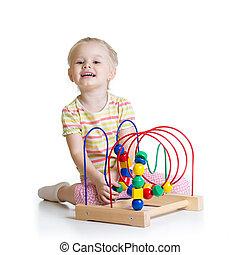 色, 教育 おもちゃ, かなり, 子供