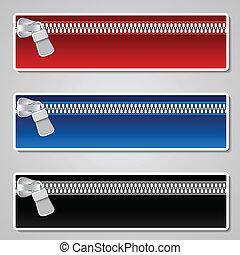 色, 旗, ベクトル, ジッパー