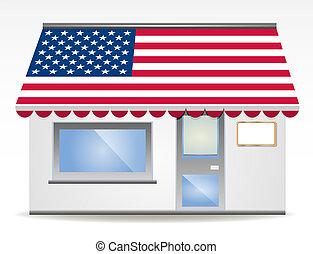 色, 日除け, ベクトル, flagged, アメリカ