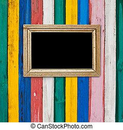色, 木製のフレーム, 部屋, イラスト