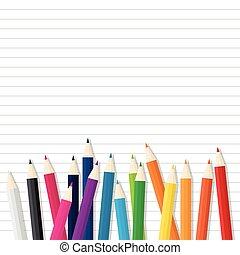 色, 木製の鉛筆, オンラインで, ペーパー
