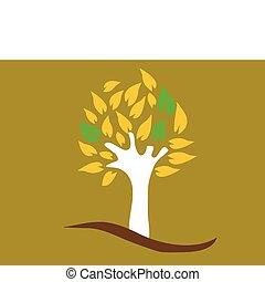 色, 木, ベクトル, -, イラスト