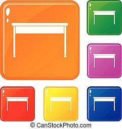 色, 机, ベクトル, セット, アイコン