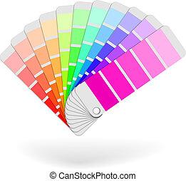 色, 束, サンプル, カタログ, ベクトル, アイコン