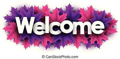 色, 歓迎, leaves., 印, 秋, かえで