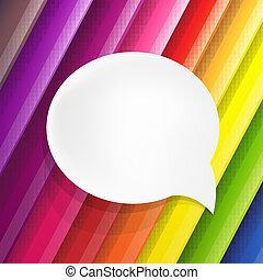色, 泡, スピーチ, 背景