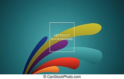 色, 活気に満ちた, 抽象的なデザイン, 背景