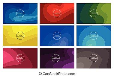 色, 活気に満ちた, 抽象的, イラスト, デザイン, 背景