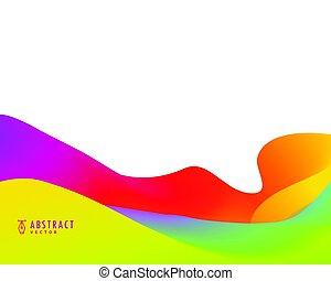 色, 活気に満ちた, 抽象的, 明るい, デザイン, 背景