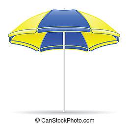 色, 浜, ベクトル, 傘, イラスト