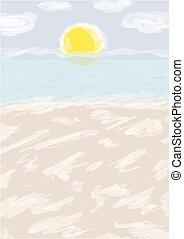 色, 浜, 背景