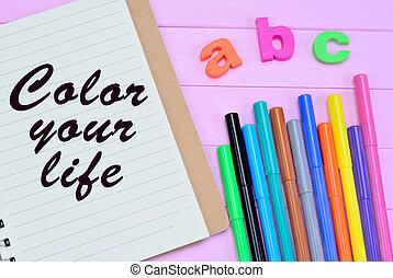 色, 生活, あなたの, 言葉