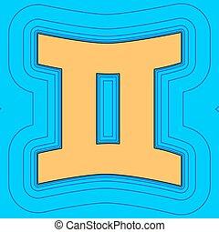 色, 空, ふたご座, 輪郭, 青, フィールド, -, バックグラウンド。, 黒, 輪郭, vector., 地図, 印。, equidistant, sea., 波, アイコン, のように, 島, 海洋, 砂, ∥あるいは∥