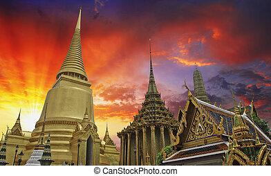 色, 空, タイ人, 寺院